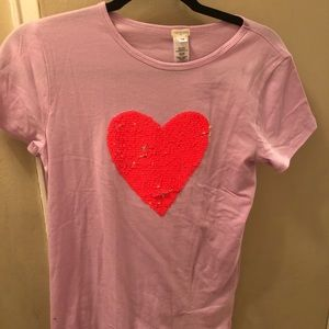 Crewcuts shirt with flip sequined heart